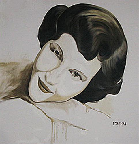 """My Mother"" original fine art by Donna Thomas"