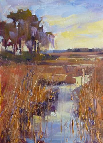 """Marsh Study"" original fine art by Karen Margulis"