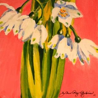 """Little Umbrella Flowers"" original fine art by JoAnne Perez Robinson"