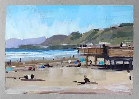 """Pismo Beach"" original fine art by Sharon Schock"