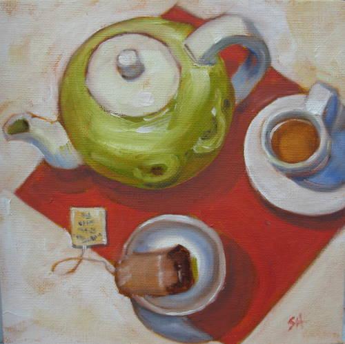 """Demitasse tea"" original fine art by Sandy Haynes"