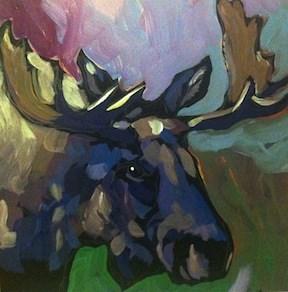 """Noble Beast"" original fine art by Kat Corrigan"
