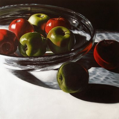 """It's been awhile since I've painted apples...."" original fine art by Jelaine Faunce"