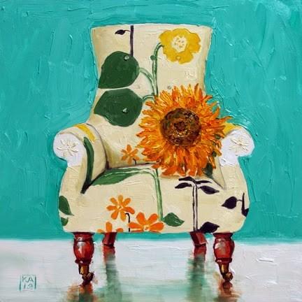 """van gogh love"" original fine art by Kimberly Applegate"