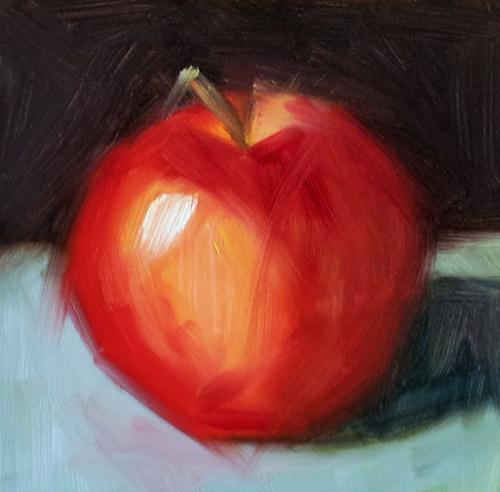 """Apple Vibes"" original fine art by Cindy Haase"
