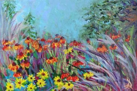 """3168 - Flower Bed - OSWOA Series"" original fine art by Sea Dean"