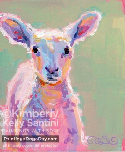 """Baby Baa"" original fine art by Kimberly Santini"