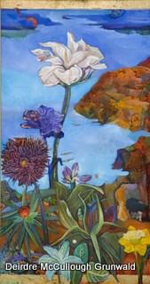 """""""Nirvana Tropicana I"""" original fine art by Deirdre McCullough Grunwald"""