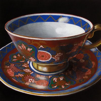 """""""Teacup Study:  My Mother's Collection IV"""" original fine art by Jelaine Faunce"""