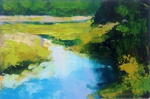 """Marsh and Creek"" original fine art by Mary Gilkerson"