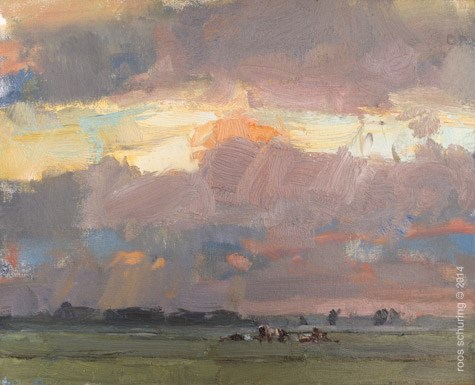 """""""Painting Light – Chasing – just before heavy Rain"""" original fine art by Roos Schuring"""