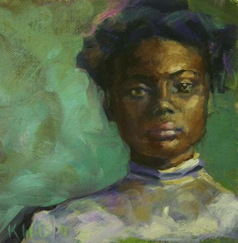 """Lace Collar"" original fine art by Katie Wilson"