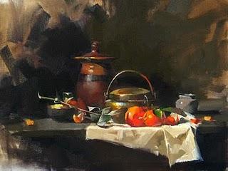 """Sweet Mirage"" original fine art by Qiang Huang"