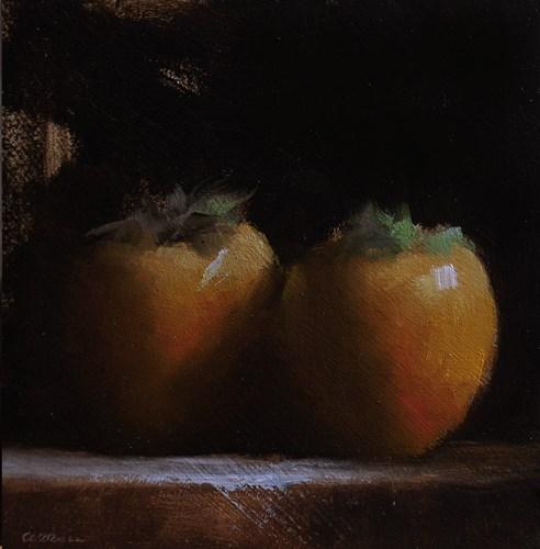 """""""Persimmons"""" original fine art by Neil Carroll"""