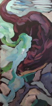 """Seeking Below"" original fine art by Kat Corrigan"