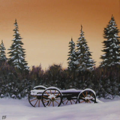 """""""Left Behind the Trees"""" original fine art by ~ces~ Christine E. S. Code"""