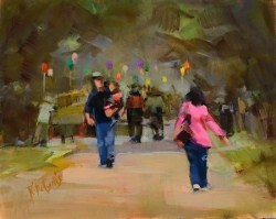 """Parade Walkers"" original fine art by Rita Curtis"