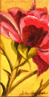 """""""Rose Colored"""" original fine art by JoAnne Perez Robinson"""