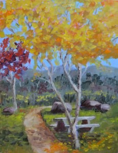 """""""Nice Place for a Picnic"""" original fine art by Robert Frankis"""
