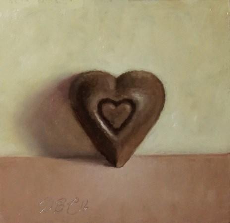 """Chocolate Heart"" original fine art by Debra Becks Cooper"