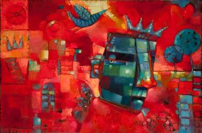 """Center Of His Own Attention"" original fine art by Brenda York"