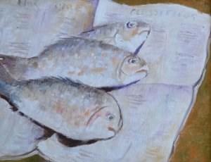 """Today's Catch"" original fine art by Robert Frankis"