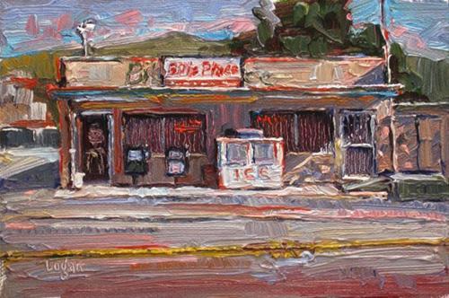 """Bill's Place"" original fine art by Raymond Logan"