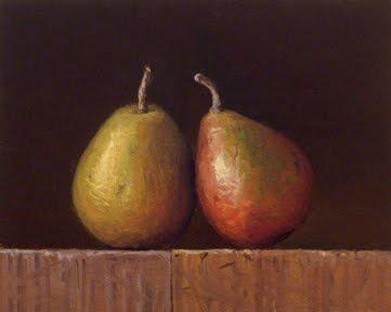 """""""Two Seckel Pears"""" original fine art by Abbey Ryan"""