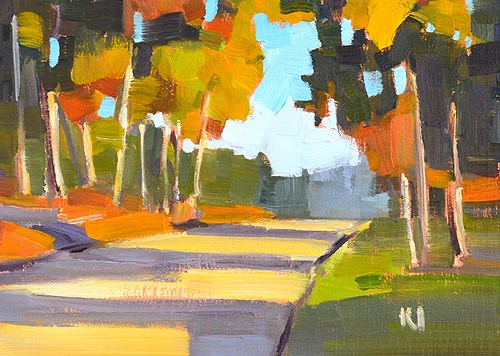 """Eucalyptus Trees, San Diego"" original fine art by Kevin Inman"