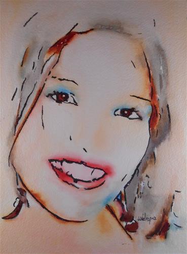 """Lili"" original fine art by Juan Velasquez"