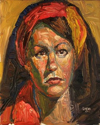 """Lori"" original fine art by Raymond Logan"