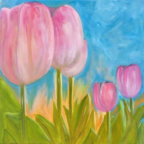 """""""Tiptoe"""" original fine art by Lou Belcher"""