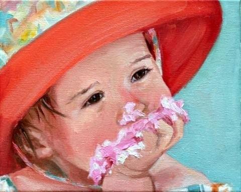 """sugar smash"" original fine art by Carol Carmichael"