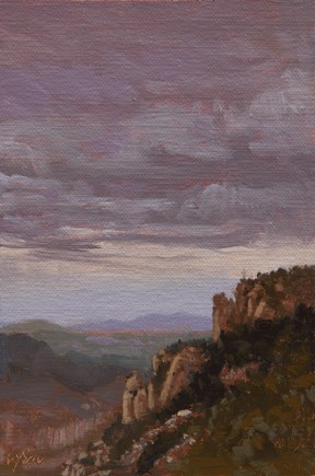 """""""Landscape in the Clouds, Montserrat, near Barcelona, Spain (+ Thoughts on the Picasso Museum)"""" original fine art by Abbey Ryan"""