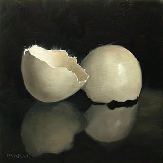 """Cracked Shell"" original fine art by Michael Naples"