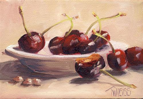 """Cherries 2"" original fine art by Lori Twiggs"