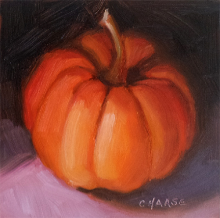 """Mini Pumpkin"" original fine art by Cindy Haase"