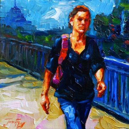 """""""traveling"""" original fine art by Jurij Frey"""