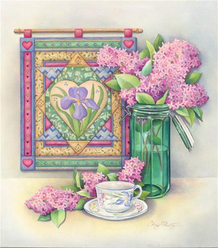 """Lilac Arrangement"" original fine art by Cheryl Plautz"