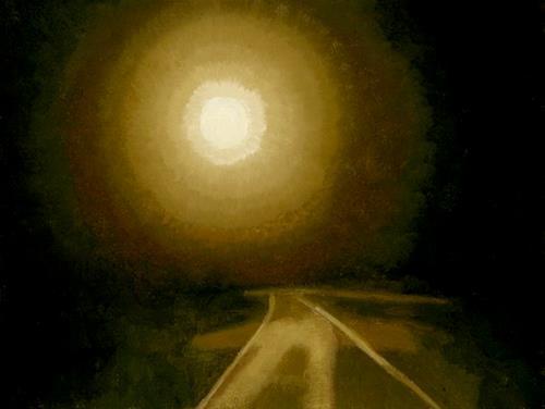 """The Dream - Into the Moon"" original fine art by Nancy Herman"