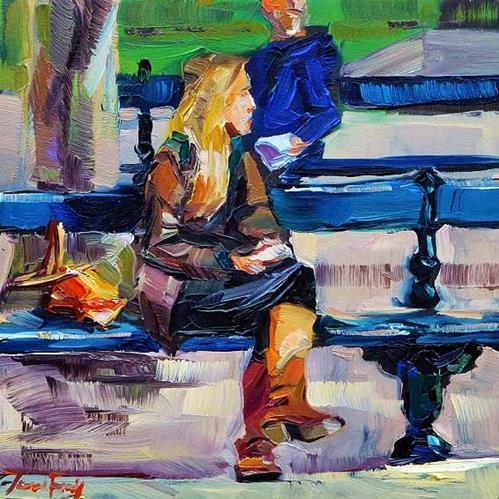 """""""In Jardin du Luxemburg"""" original fine art by Jurij Frey"""