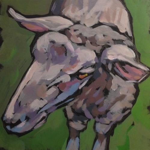 """Sheepish"" original fine art by Kat Corrigan"