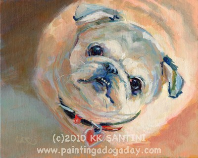 """""""Come Paint With Me!"""" original fine art by Kimberly Santini"""