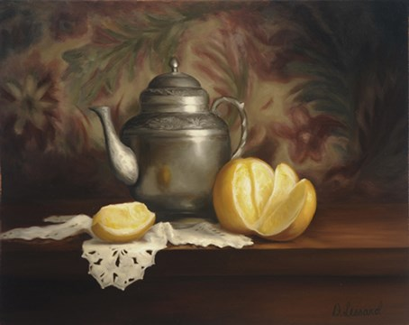 """A Peeling Series: Orange Pekoe #903"" original fine art by Dee Lessard"