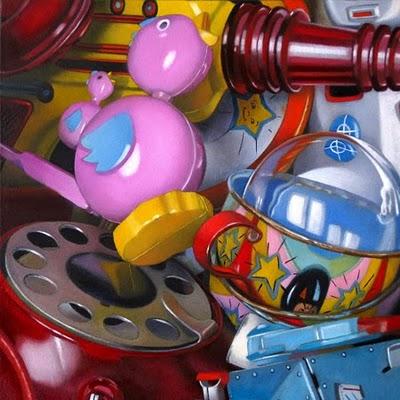 """Finds No. 1 -- Toys 6x6"" original fine art by M Collier"