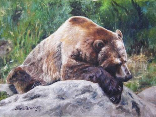 """""""A Bear Of a Prayer"""" original fine art by Lori Brackett"""
