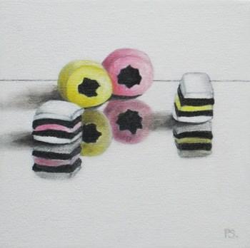 """""""All Sorts Liquorice"""" original fine art by Pera Schillings"""