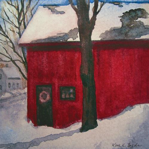 """The Red Barn"" original fine art by Kara K. Bigda"