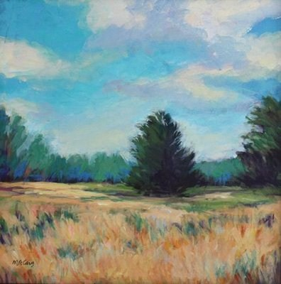 """""""Summer Field"""" original fine art by Mary Anne Cary"""