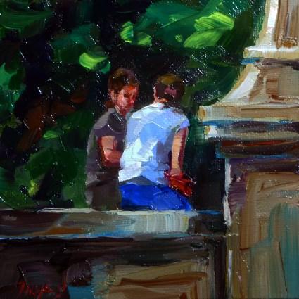 """""""Im Garten"""" original fine art by Jurij Frey"""